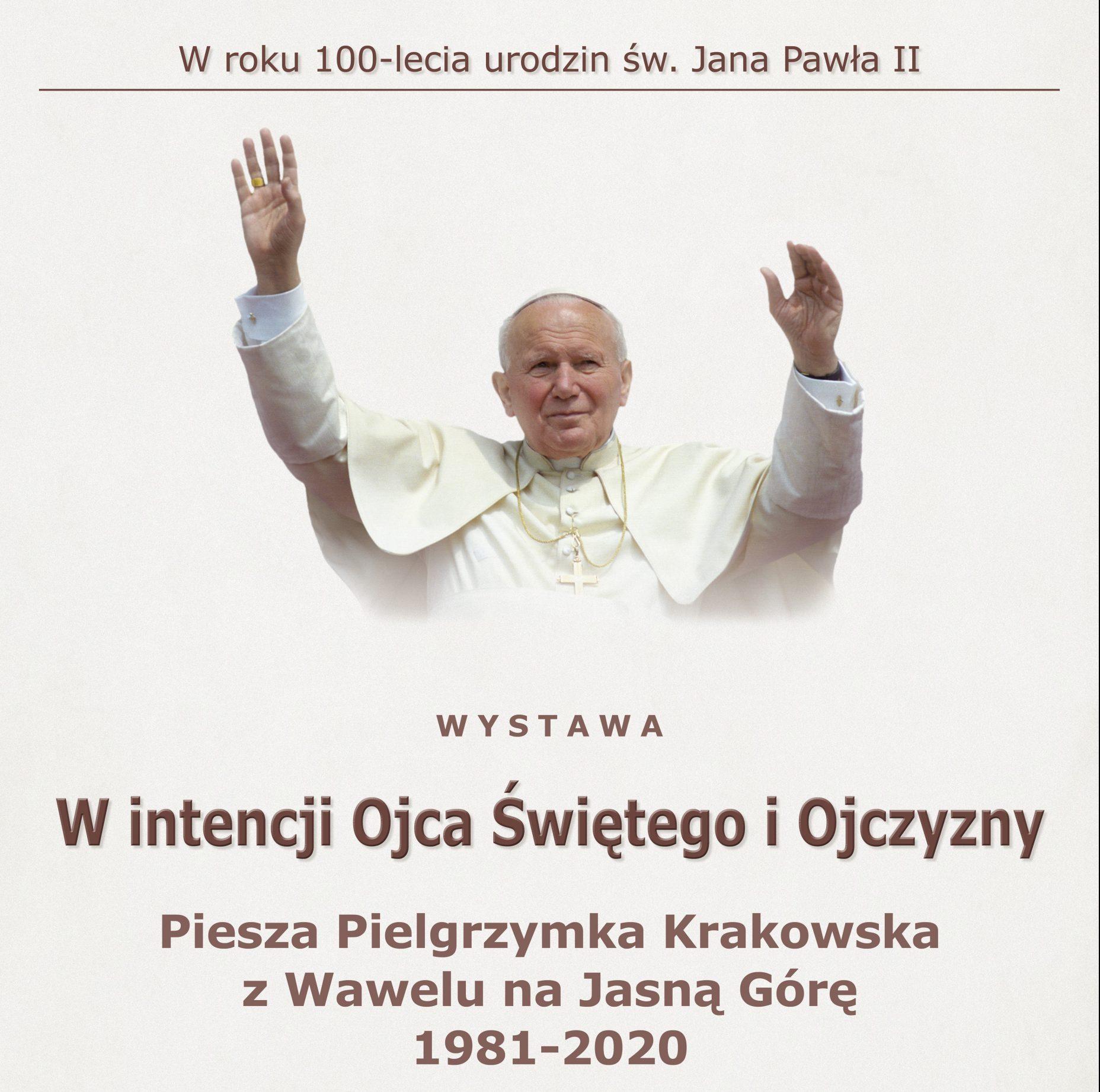 """Otwarcie wystawy """"W intencji Ojca Świętego i Ojczyzny"""" – 3.10.2020"""