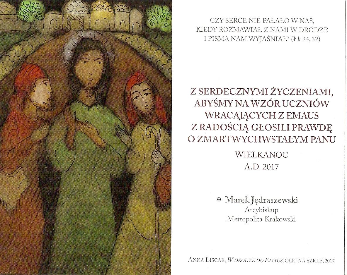 Arcybiskup Marek Jędraszewski Wielkanoc 2017