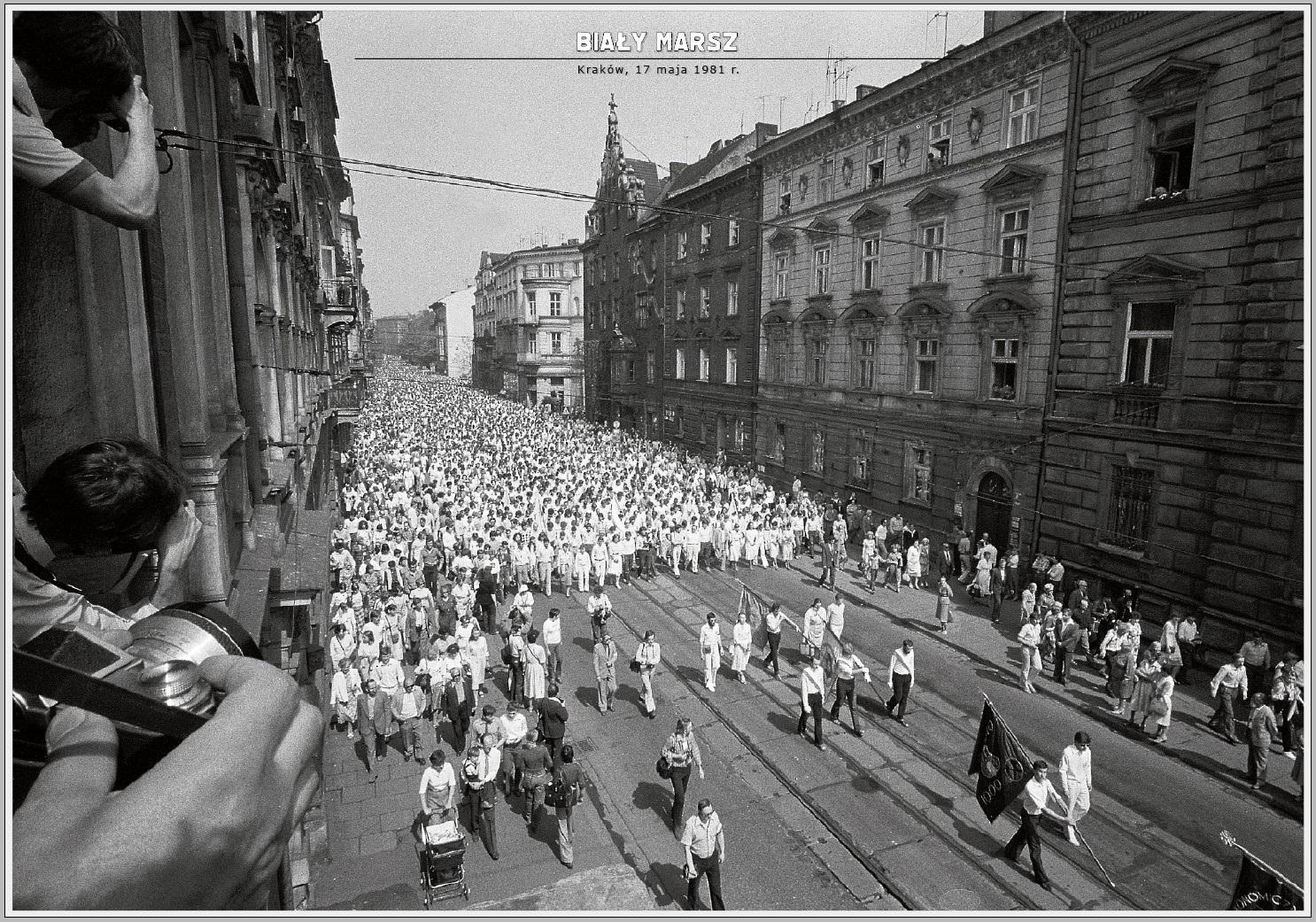 Czterdzieści lat minęło.. 17 maja 2021, czyli 40. lat od Białego Marszu