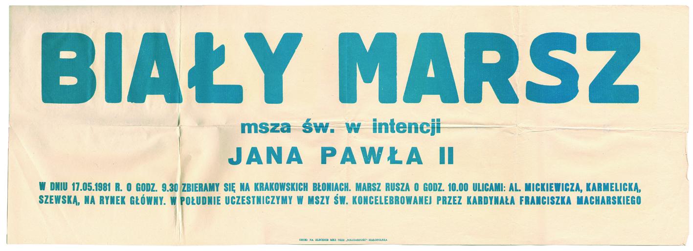 """Otwarcie wystawy """"Biały Marsz – 17 maja 1981 roku"""""""
